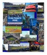 Chicago Cubs Collage Fleece Blanket