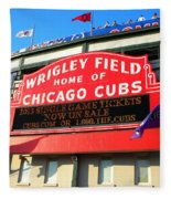 Chicago Cubs Marquee Sign Fleece Blanket