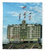 Chicago Cubs Scoreboard 02 Fleece Blanket