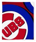 Chicago Cubs Football Fleece Blanket