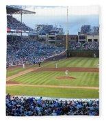 Chicago Cubs Up To Bat Fleece Blanket