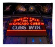 Chicago Cubs Win Fireworks Night Fleece Blanket