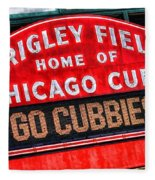 Chicago Cubs Wrigley Field Fleece Blanket