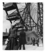 Chicago Ferris Wheel, C1893 Fleece Blanket