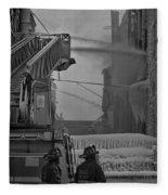 Chicago Firemen Looking On Fleece Blanket