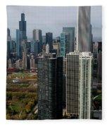 Chicago Harbor Point Fleece Blanket