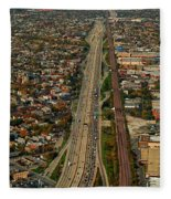 Chicago Highways 01 Fleece Blanket