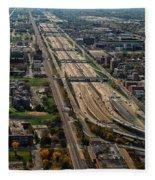 Chicago Highways 02 Fleece Blanket