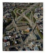 Chicago Highways 04 Fleece Blanket