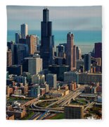 Chicago Highways 05 Fleece Blanket