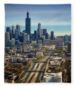 Chicago Highways 06 Fleece Blanket