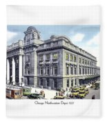 Chicago Illinois - Northwestern Railroad Station - 1927 Fleece Blanket