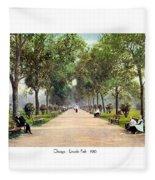 Chicago - Lincoln Park - 1910 Fleece Blanket