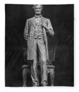 Chicago Lincoln Statue Fleece Blanket