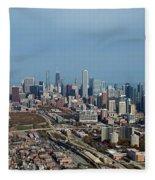 Chicago Looking North 01 Fleece Blanket