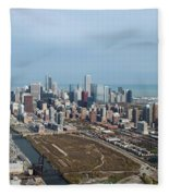 Chicago Looking North 02 Fleece Blanket