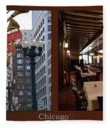 Chicago Macys Department Store 2 Panel Fleece Blanket