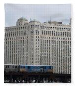 Chicago Merchandise Mart And Cta El Train Fleece Blanket