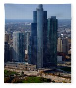 Chicago Modern Skyscraper Fleece Blanket