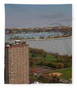 Chicago Montrose Harbor 01 Fleece Blanket