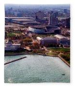 Chicago Museum Park Fleece Blanket