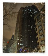 Chicago Night Life  Fleece Blanket