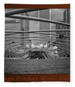 Chicago Pritzker Music Pavillion Sc Triptych 3 Panel Fleece Blanket