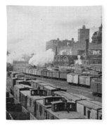 Chicago Railroads, C1893 Fleece Blanket
