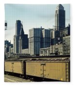 Chicago Railway Freight Terminal - 1943 Fleece Blanket