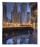 Chicago Reflected Fleece Blanket
