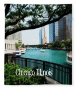 Chicago River Front Fleece Blanket