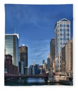 Chicago River Fleece Blanket