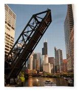 Chicago River Traffic Fleece Blanket