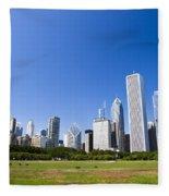 Chicago Skyline From Grant Park Fleece Blanket