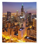 Chicago Southwest 2 Fleece Blanket