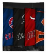 Chicago Sports Teams Fleece Blanket