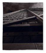 Chicago Structure Bw Fleece Blanket
