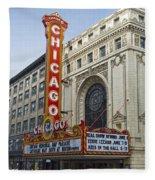 Chicago Theater Facade Southside Fleece Blanket