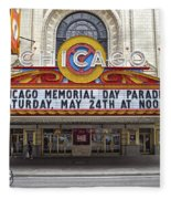 Chicago Theater Signage Fleece Blanket