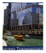 Chicago Transportation Triptych 3 Panel Hdr 01 Fleece Blanket