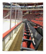 Chicago United Center Before The Gates Open Blackhawk Seat One Fleece Blanket