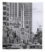 Chicago Water Tower Beacon Black And White Fleece Blanket