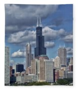 Chicago Willis Sears Tower Fleece Blanket