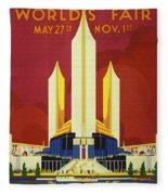 Chicago World Fair A Century Of Progress Expo Poster  1933 Fleece Blanket
