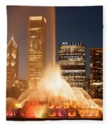 Chicago's Buckingham Fountain Fleece Blanket