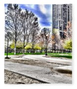 Chicago's Jane Addams Memorial Park From The Series The Imprint Of Man In Nature Fleece Blanket