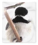 Chickadee-img-2147-001 Fleece Blanket