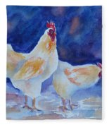 Chicken Duo Fleece Blanket