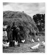 Chicken Farmers, 1939 Fleece Blanket