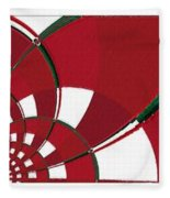 Chicken Little Crossed The Road - Abstract - Triptych Fleece Blanket
